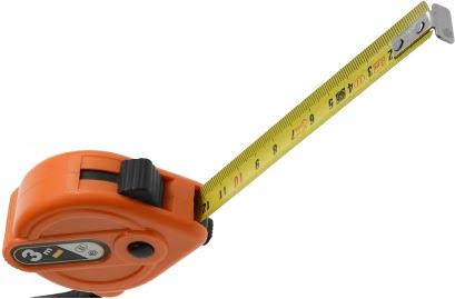 Lemmet oranje rolmaat 3 meter